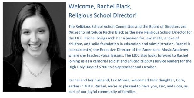 Rachel Black 2019